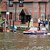 This amphibious car amazed everyone as it drove straight into the River Thames in Marlow, 13/6/15