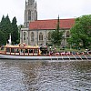 The magnificent Gloriana in front of All Saints Church Marlow