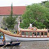 The Gloriana as it makes it's way to Runnymede in celebration of the 800th anniversary of the sealing of the Magna Carta